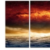 Dramatic Apocalyptic Design Spacescape Metal Wall Art 28x36 3 Panels