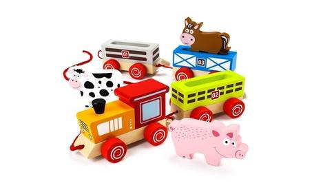 Brybelly TCDG-029 Push n Pull Busy Barnyard Train c5b864d0-8bba-4bd6-b25c-4e29b60a0d0e