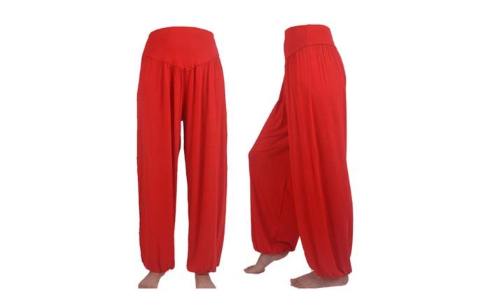 DPN Women's Super Soft Nylon Spandex Harem Yoga/ Pilates Capri Pants