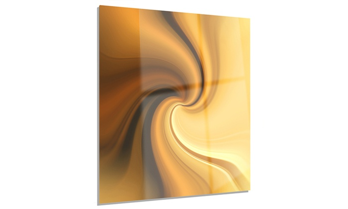 Brown Waves Curved Texture Abstract Metal Wall Art 12x28