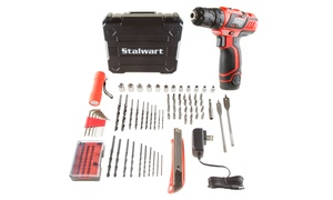 Stalwart 12V Lithium-Ion 2-Speed Drill and Accessory Tool Set (75-Pc.)