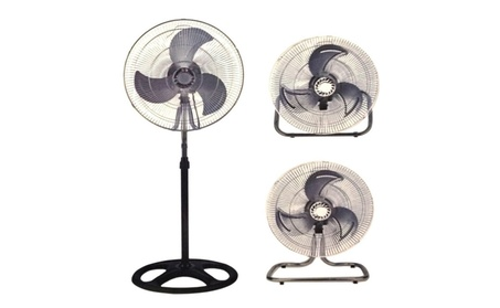 "Industrial Fan 18"" Floor Stand Mount Shop Commercial High Velocity 1949ade0-2d80-45f3-9edb-985a40d9bc71"