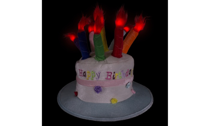 Up To 33 Off On LED Happy Birthday Cake Hat W