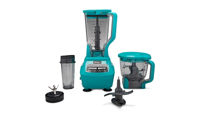 Nutri Ninja BL772QT Mega Kitchen System 1500W Blender 72 oz, Blue,  Refurbished