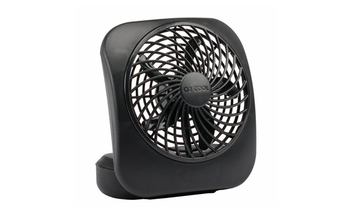 O2COOL 5-Inch Portable Fan, Black&White