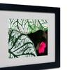 Kurt Shaffer 'Caladium Abstract' Matted Black Framed Art