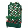 Exaco 1.416Green Calypso Planter With Trellis And Self Watering System