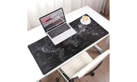 Estera para ordenador y ratón con diseño de mapa