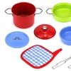 Little Chef Colorful 8 Pcs. Metal Children's Kid's Toy Kitchenware Playset