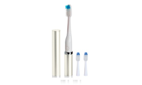 Ultrasonic Travel Toothbrush with 2 Replacement Brush Heads