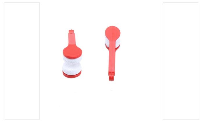 Portable Handle Eyeglass Sun Glasses Microfiber Spectacles Cleaner
