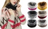 Soft Fleece Lined Thick Winter Circle Windproof Scarf Neck Warmer Wrap