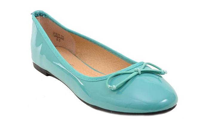 Cute Teal Women's Dixie-01 Ballet Flat