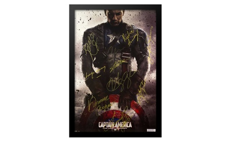 Captain America First Avenger - Cast Signed Movie Poster in Wood Frame 34ba3396-3eab-48ae-8c46-eee564ebbc1b