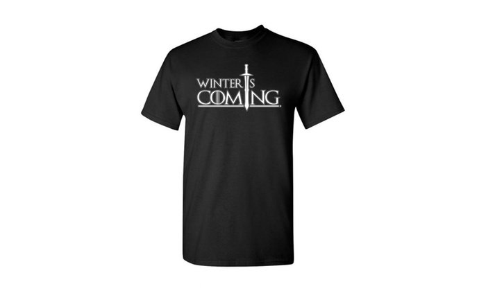 Game of Thrones Men's Winter Is Coming Circle  T-shirt