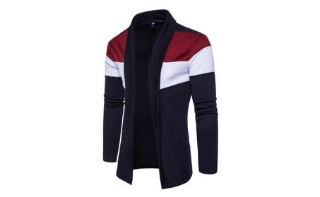 Men's Shawl Collar High-Low Hem Long Cardigans ec74a606-3156-4934-9b21-4168f7813e5f