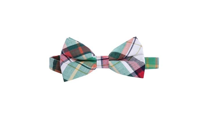 Plaid Skinny bow tie
