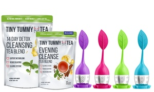 Tiny Tummy Tea AM & PM Detox Cleansing Blend with Tea Infuser