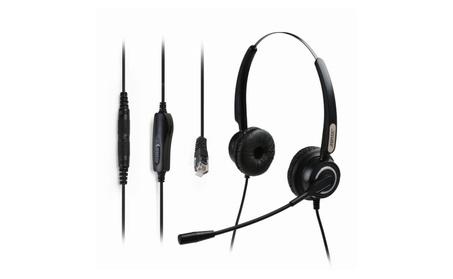Hands-free 4-Pin RJ9 Binaural Telephone Headset w/ Noise Canceling Mic 2e62c2ec-2adf-4dd2-8036-913260eb8746
