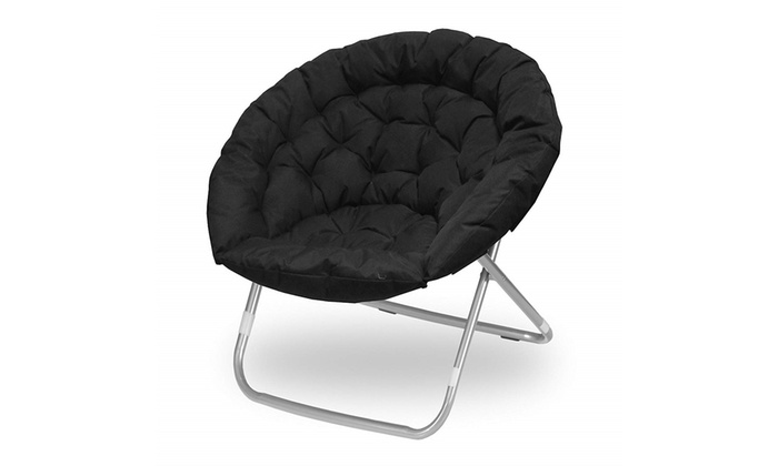 Incredible Urban Shop Oversized Saucer Chair Black Pabps2019 Chair Design Images Pabps2019Com
