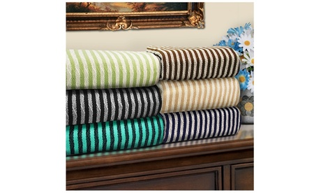 Superior 100% Cotton Striped Blanket 88f0ffcd-f2b9-47e9-8610-25c2aae1ca0f