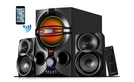 Boytone BT-324F, 2.1 Bluetooth home theater speaker, disco light f56adfb6-6642-48d4-8730-dc45100ed91a