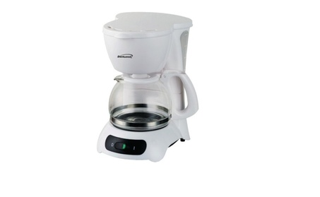 Brentwood 4 Cup Coffee Maker Machine White Color Anti Drip Feature e492cef3-e2c3-4ae4-b30e-79cda9c6d08f