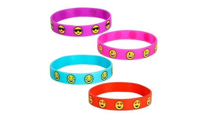 03e763b08f263 Emoji Smile Emoticon Silicone Wristband Bracelets
