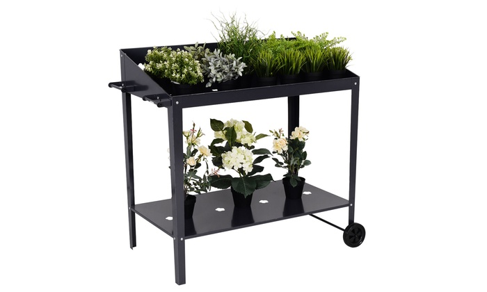 40\'\' Raised Garden Bed Potting Bench Work Station Storage ...