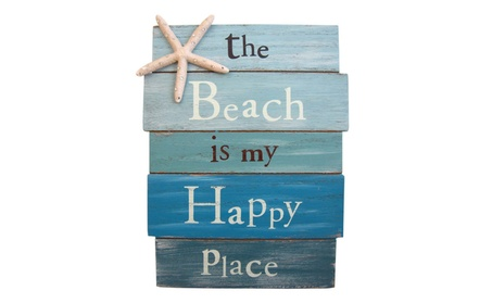 The Beach Is My Happy Place - Plank Board Sign 8c474a9b-26d9-4d39-9a49-f3b33be80f2a