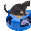 Cat Mouse Play Toy with Scratching Post