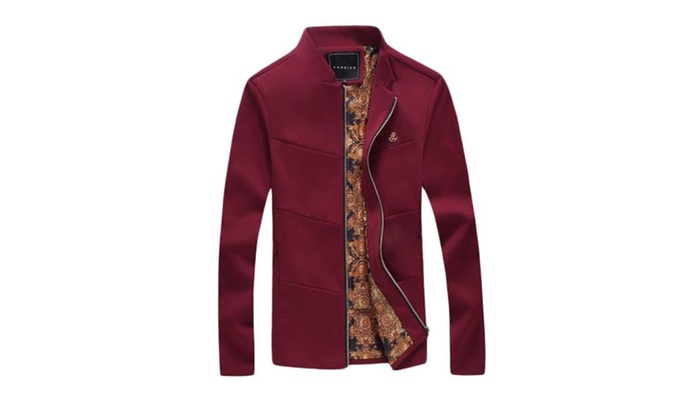 Men's Solid Casual Slim Fit Fashion Long Sleeve Cotton Coats