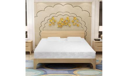 """New 14"""" Three Layers Queen Cool Memory Firm GEL Foam Mattress Room w/ 2 Pillows"""