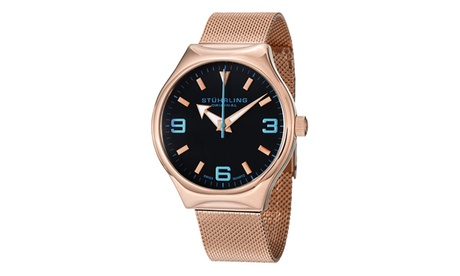 Stuhrling Original Men's Quartz Stainless Steel Bracelet Watch 202fd6f0-0971-490e-8918-9172f168b22f