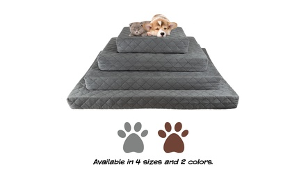 Waterproof Memory Foam Pet / Dog Bed - with Removable Washable Cover