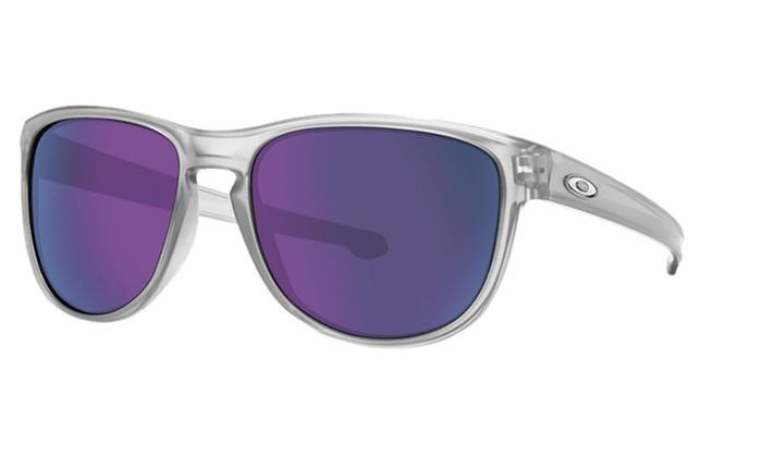 Oakley Sliver Round Men\'s Matte Clear Frame and Violet Lens ...