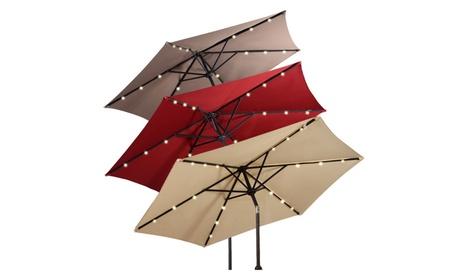 9FT Patio Solar Umbrella LED Patio Market Steel Tilt W/ Crank Outdoor ea2b697d-0805-498b-9d57-e86847429995