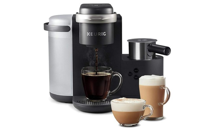 Keurig K Cafe Single Serve K Cup Coffee Maker And Milk Frother Dark