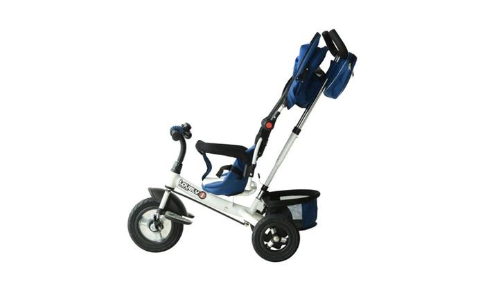 Baby Kids Tricycle Stroller Trike Bike Ride On Steel Frame Activity ...