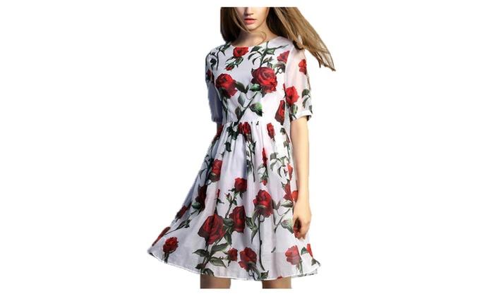 Women's High Rise Casual Casual Blouson 1/2 Sleeve Dresses