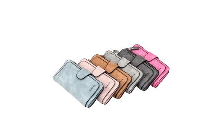 BAELLERRY Retro Fashion Women Dull Polish PU Leather Long Wallet fac3c393-f7c2-418c-8282-265861fe53b3