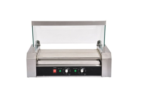 Stainless Steel Commercial 7 Roller 18 Hot Dog Grill Cooker Machine d428dfcd-c863-4e83-97f4-b50cf822c3c1