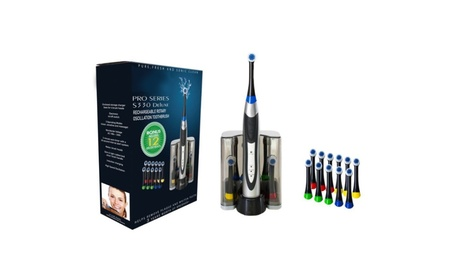 Rechargeable Electric Toothbrush Dock Charger & 12 Brush Heads e7bb4eee-57b4-4d83-8fff-bc1409b845ed