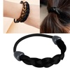 Zodaca Black Womens Braid Wig Hair Band Rope Scrunchie Ponytail Holder