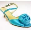 New Kate Spade New York Blue Satin Peep Toe Slingback Bow Size 7 1/2B