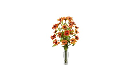 Nearly Natural Cosmos With Vase Silk Flower Arrangement 72bb3e77-110d-4024-93f5-abc9688f6b7b