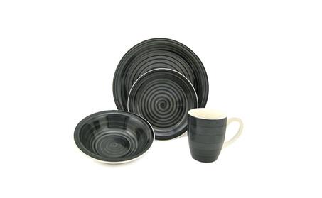 Swirl 16 Piece Dinnerware Set, Service for 4