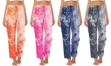 Women Tie Dye Sweatpants Drawstring Lounge Pants Training Jogger Yoga Pants