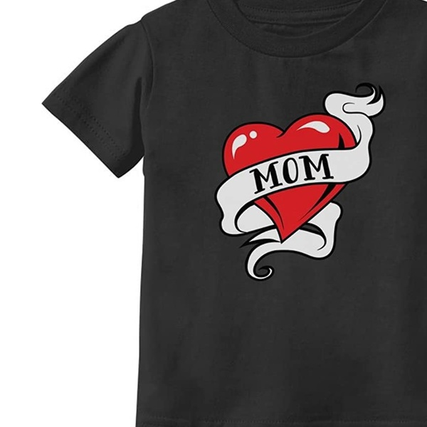 Mom Heart Tattoo for Mothers Day Love Mom Toddler//Infant Kids T-Shirt