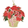 ChemArt 57182 Poinsettia Basket Ornament